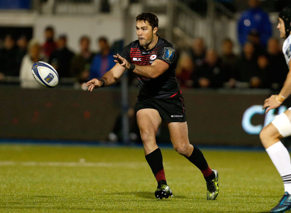 Saracens' Brad Barritt during the Champions Cup, pool two match at Barnet Copthall, London
