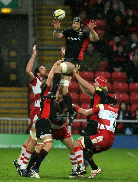 Steve Borthwick rises highest to win the line out ball