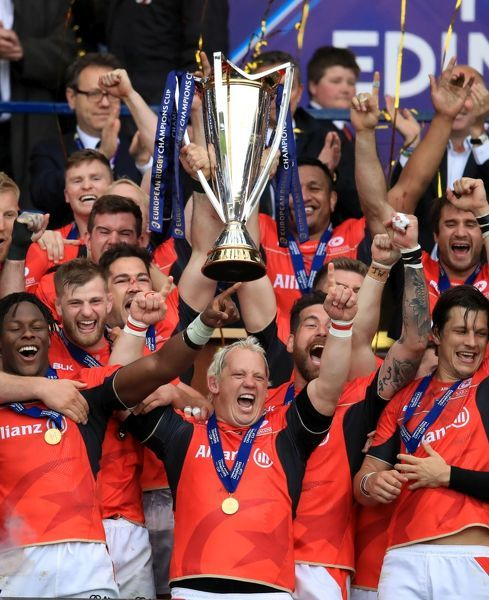 Saracens' celebrate after the European Champions Cup Final at BT Murrayfield, Edinburgh