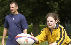 Camberey Ladies Rugby Team Training