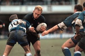 Francois Pienaar debut match - First Division game - Bath v Saracens