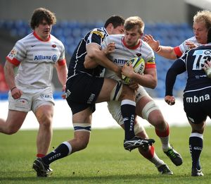 LV=Cup - Pool One - Sale Sharks v Saracens - Salford City Stadium
