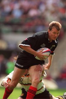 Saracens' Gavin Johnson in action