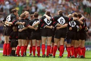Saracens team group before the match